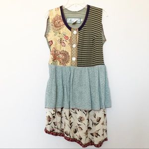 Vintage women's Nothing Matches Mixed Media Dress